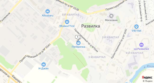Купить торговую площадь 635 м<sup>2</sup> в посёлке Развилка по адресу Россия, Московская область, Ленинский район, поселок Развилка, 33