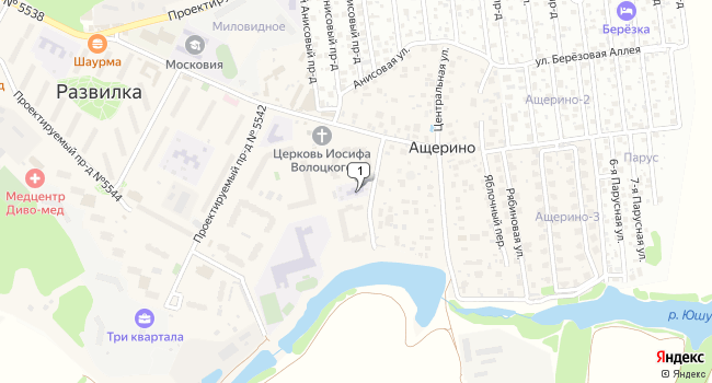 Купить офис 162.7 м<sup>2</sup> в посёлке Развилка по адресу Россия, Московская область, Ленинский район, поселок Развилка, 47