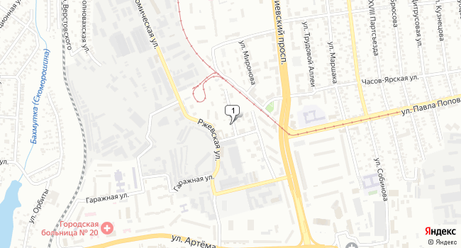 Купить офис 4000 м<sup>2</sup> в Донецке по адресу Украина, Донецк, улица Намёткина, 10