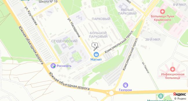 Арендовать торговую площадь 15 м<sup>2</sup> в Старом Осколе по адресу Россия, Белгородская область, Старый Оскол, Парковый микрорайон, 10А