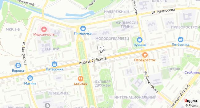 Арендовать офис 22 м<sup>2</sup> в Старом Осколе по адресу Россия, Белгородская область, Старый Оскол, микрорайон Молодогвардеец, 2
