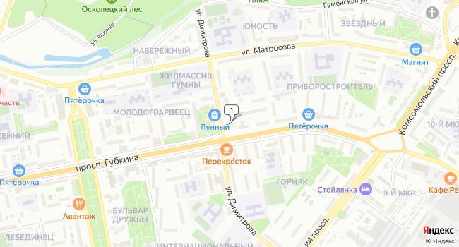 Арендовать торговую площадь 402 м<sup>2</sup> в Старом Осколе по адресу Россия, Белгородская область, Старый Оскол, микрорайон Приборостроитель, 6А