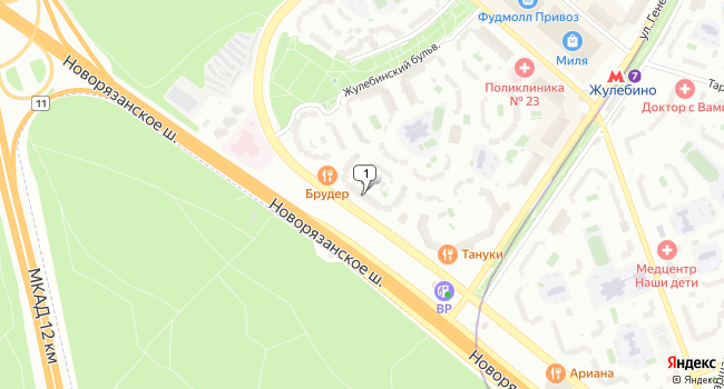 Арендовать торговую площадь 695 м<sup>2</sup> в Москве по адресу Россия, Москва, Привольная улица, 61к1