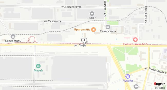 Купить склад 1250 м<sup>2</sup> в Череповце по адресу Россия, Вологодская область, Череповец, улица Мира