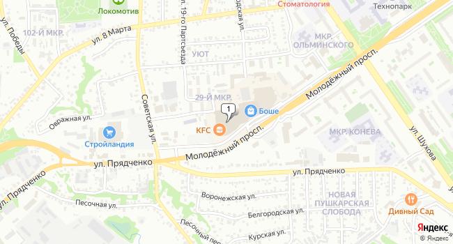 Арендовать офис 35 м<sup>2</sup> в Старом Осколе по адресу Россия, Белгородская область, Старый Оскол, Советская улица, 11