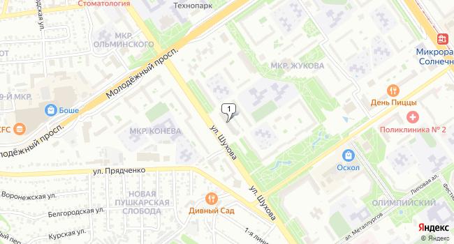Арендовать торговую площадь 250 м<sup>2</sup> в Старом Осколе по адресу Россия, Белгородская область, Старый Оскол, микрорайон Жукова, 48