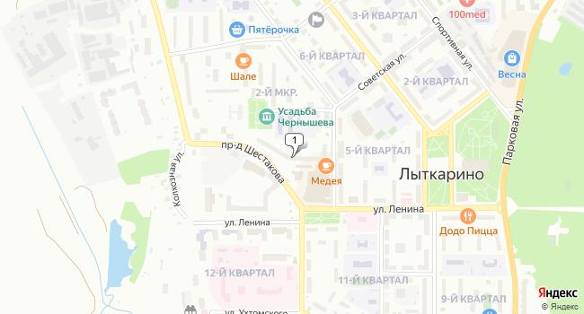 Арендовать торговую площадь 155 м<sup>2</sup> в Лыткарино по адресу Россия, Московская область, Лыткарино, Советская улица, 14