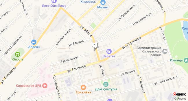 Арендовать торговую площадь 860 м<sup>2</sup> в Киреевске по адресу Россия, Тульская область, Киреевск, улица Мира, 10В