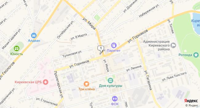 Арендовать торговую площадь 860 м<sup>2</sup> в Киреевске по адресу Россия, Тульская область, Киреевск, улица Мира, 10