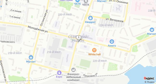 Купить торговую площадь 130 м<sup>2</sup> в Череповце по адресу Россия, Вологодская область, Череповец, Пионерская улица, 12