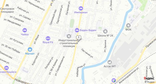 Купить земельный участок 1400 м<sup>2</sup> в Крымске по адресу Россия, Краснодарский край, Крымск, Советская улица, 80