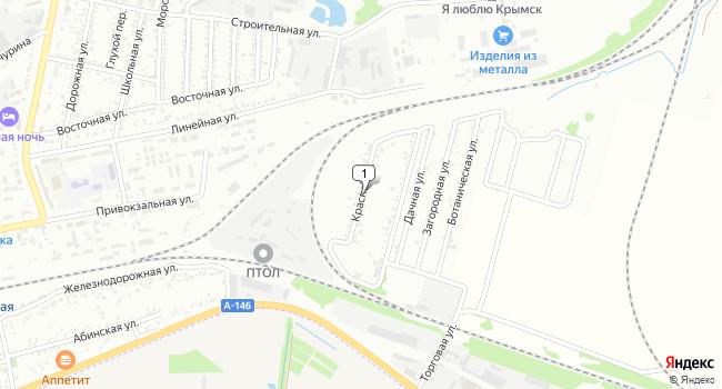 Купить земельный участок 8600 м<sup>2</sup> в Крымске по адресу Россия, Краснодарский край, Крымск, Красная улица