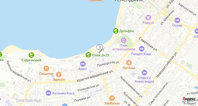 Арендовать коммерческую недвижимость 1600 м<sup>2</sup> в Геленджике по адресу Россия, Краснодарский край, Геленджик, Революционная улица, 6