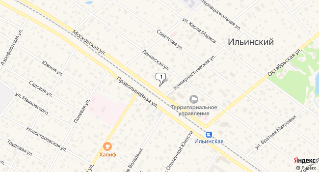 Арендовать торговую площадь 540 м<sup>2</sup> в посёлке ского типа Ильинский по адресу Россия, Московская область, Раменский район, поселок городского типа Ильинский, Московская улица, 20