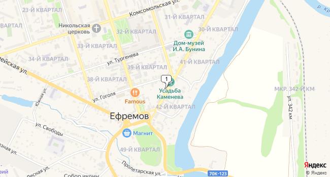 Купить торговую площадь 27000 м<sup>2</sup> в Ефремове по адресу Россия, Тульская область, Ефремов, улица Карла Маркса, 9