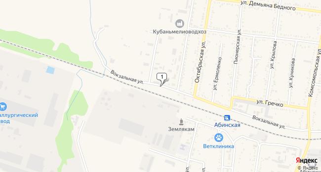 Купить склад 10000 м<sup>2</sup> в Абинске по адресу Россия, Краснодарский край, Абинск, Вокзальная улица