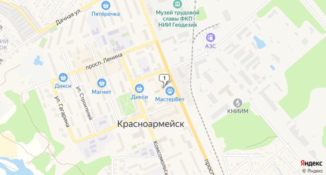 Арендовать коммерческую недвижимость 450 м<sup>2</sup> в Красноармейске по адресу Россия, Московская область, Красноармейск, проспект Испытателей, 15