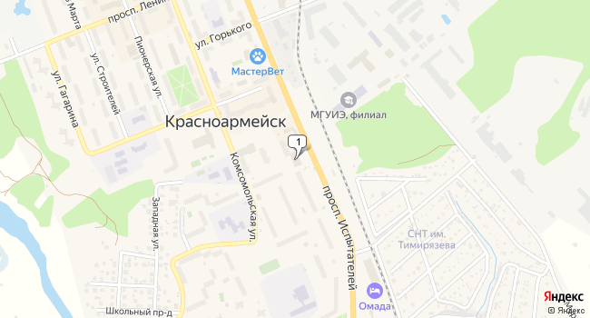 Арендовать торговую площадь 70 м<sup>2</sup> в Красноармейске по адресу Россия, Московская область, Красноармейск, проспект Испытателей, 9к2