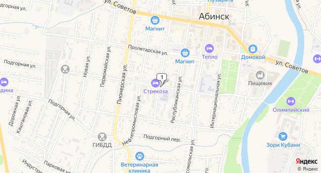 Купить коммерческую недвижимость 650 м<sup>2</sup> в Абинске по адресу Россия, Краснодарский край, Абинск, Красноармейская улица