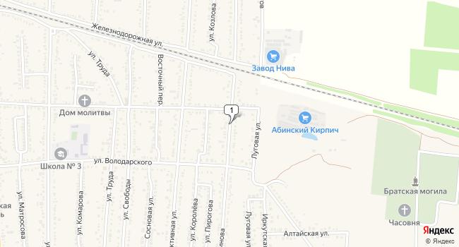 Арендовать торговую площадь 14 м<sup>2</sup> в Абинске по адресу Россия, Краснодарский край, Абинск, улица Спинова