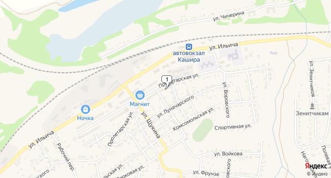 Арендовать коммерческую недвижимость 172 м<sup>2</sup> в Кашире по адресу Россия, Московская область, Кашира, микрорайон Кашира-1, Пролетарская улица, 35