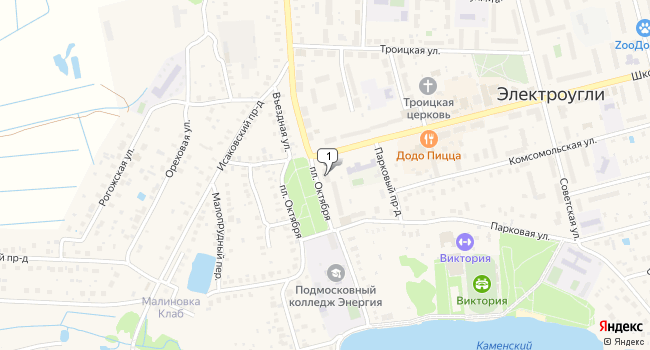 Арендовать коммерческую недвижимость 381 м<sup>2</sup> в Электроугле по адресу Россия, Московская область, Ногинский район, Электроугли, площадь Октября, 3
