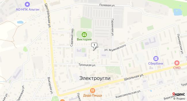 Арендовать офис 156 м<sup>2</sup> в Электроугле по адресу Россия, Московская область, Богородский городской округ, Электроугли, улица Маяковского, 16