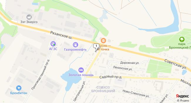 Арендовать склад 7400 м<sup>2</sup> в Бронницах по адресу Россия, Московская область, Бронницы, Центральная улица, 1