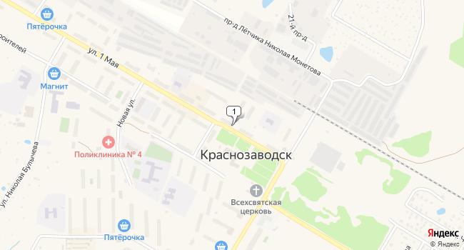 Купить торговую площадь 196 м<sup>2</sup> в Краснозаводске по адресу Россия, Московская область, Сергиево-Посадский район, Краснозаводск, улица 1 Мая, 39