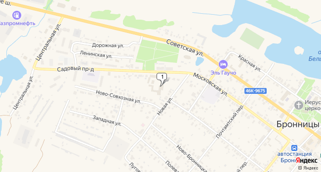 Арендовать офис 8 м<sup>2</sup> в Бронницах по адресу Россия, Московская область, Бронницы, Московская улица, 14