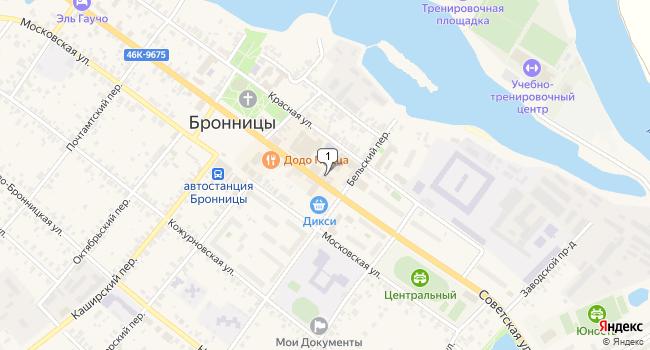 Арендовать торговую площадь 28 м<sup>2</sup> в Бронницах по адресу Россия, Московская область, город Бронницы, Советская улица, 73