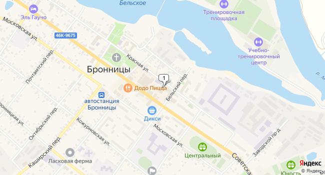 Арендовать торговую площадь 382 м<sup>2</sup> в Бронницах по адресу Россия, Московская область, Бронницы, Советская улица, 75