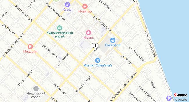 Арендовать офис 16 м<sup>2</sup> в Ейске по адресу Россия, Краснодарский край, Ейск, Армавирская улица, 45