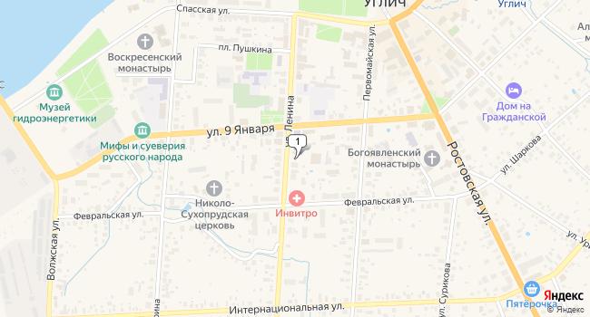 Купить торговую площадь 560 м<sup>2</sup> в Угличе по адресу Россия, Ярославская область, Углич, улица Ленина, 31
