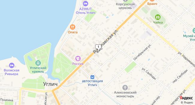 Купить торговую площадь 3443 м<sup>2</sup> в Угличе по адресу Россия, Ярославская область, Углич, Ярославская улица, 20