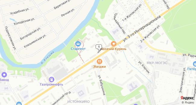 Купить торговую площадь 363 м<sup>2</sup> в Ногинске по адресу Россия, Московская область, Ногинск, улица 3-го Интернационала, 226