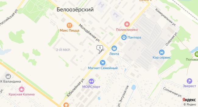 Арендовать торговую площадь 218 м<sup>2</sup> в посёлке ского типа Белоозёрский по адресу Россия, Московская область, Воскресенский район, поселок городского типа Белоозёрский, Юбилейная улица, 1