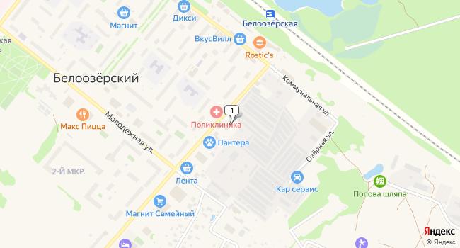 Купить торговую площадь 298 м<sup>2</sup> в посёлке ского типа Белоозёрский по адресу Россия, Московская область, Воскресенский район, поселок городского типа Белоозёрский, Коммунальная улица, 5