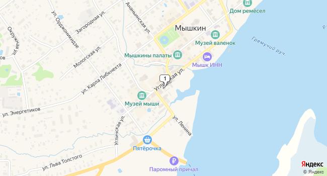Купить торговую площадь 582 м<sup>2</sup> в Мышкине по адресу Россия, Ярославская область, Мышкин, Угличская улица, 13