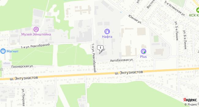 Арендовать склад 1200 м<sup>2</sup> в Ногинске по адресу Россия, Московская область, Ногинск, шоссе Энтузиастов, 64Б