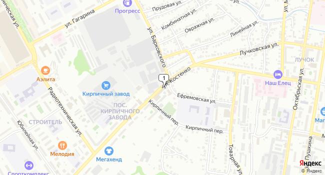 Купить офис 1467 м<sup>2</sup> в Ельце по адресу Россия, Липецкая область, Елец, улица им. Генерала Костенко
