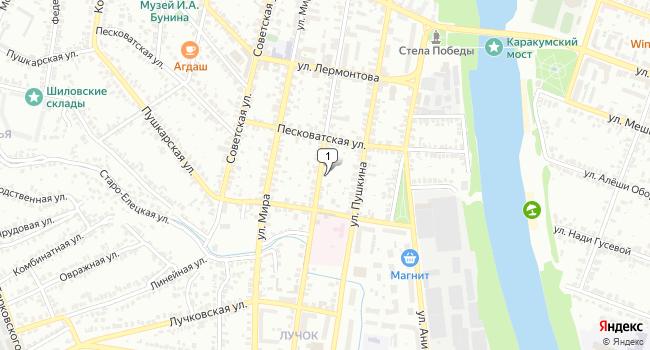 Купить торговую площадь 295 м<sup>2</sup> в Ельце по адресу Россия, Липецкая область, Елец, Октябрьская улица, 56