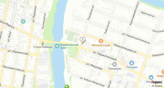 Арендовать офис 250 м<sup>2</sup> в Ельце по адресу Россия, Липецкая область, Елец, улица Орджоникидзе, 96