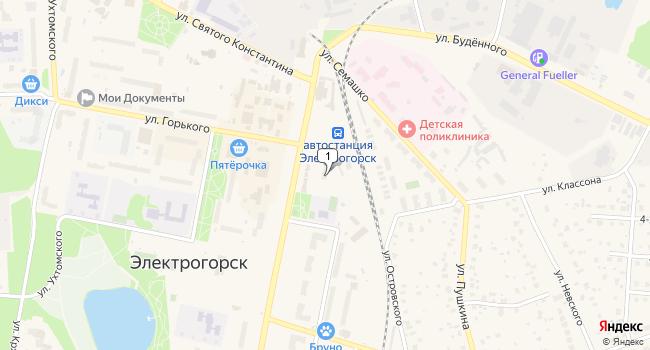 Арендовать торговую площадь 46 м<sup>2</sup> в Электрогорске по адресу Россия, Московская область, Электрогорск, Советская улица, 1