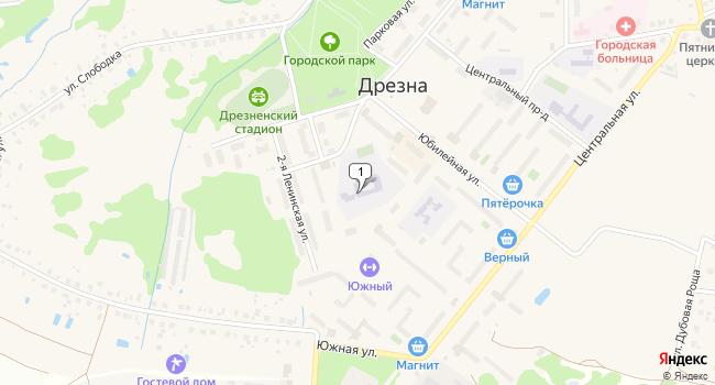 Арендовать торговую площадь 110 м<sup>2</sup> в Дрезне по адресу Россия, Московская область, Орехово-Зуевский район, Дрезна, 1-я Ленинская улица, 3