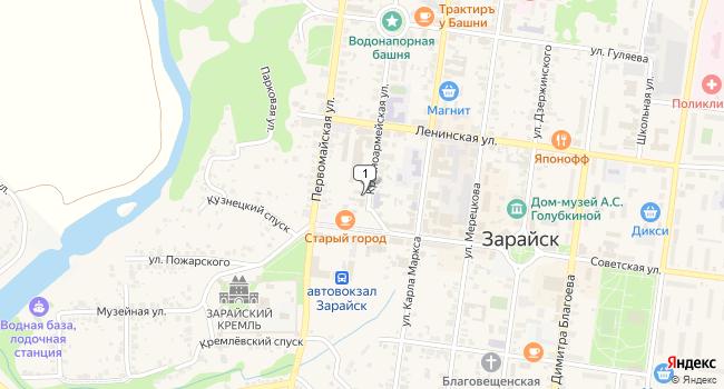 Арендовать торговую площадь 96 м<sup>2</sup> в Зарайске по адресу Россия, Московская область, Зарайск, Красноармейская улица, 44