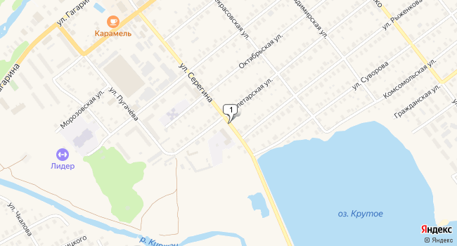 Арендовать офис 12 м<sup>2</sup> в Киржаче по адресу Россия, Владимирская область, Киржач, улица Серегина