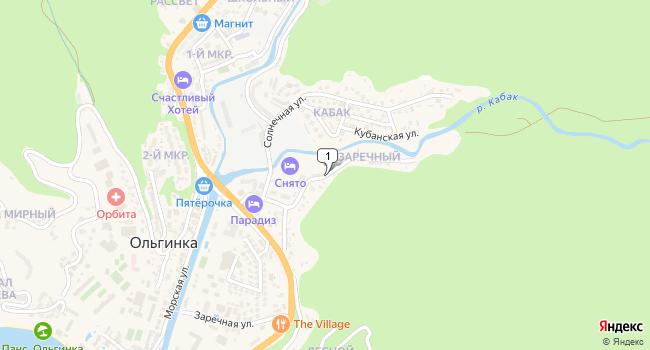Купить земельный участок 15000 м<sup>2</sup> в Туапсе по адресу Россия, Краснодарский край, Туапсинский район, село Ольгинка, Заречная улица