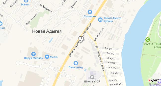 Арендовать торговую площадь 608 м<sup>2</sup> в г. посёлок ского типа Яблоновский по адресу Россия, Республика Адыгея, Тургеневское шоссе, 18