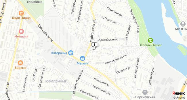 Купить торговую площадь 57 м<sup>2</sup> в Майкопе по адресу Россия, Республика Адыгея, Тахтамукайский район, поселок городского типа Яблоновский, 2-й Первомайский переулок